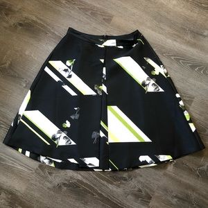 Full Black, White, and Lime skirt with POCKETS!!!